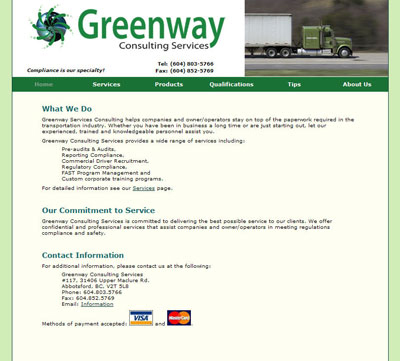 Greenway Consulting Web site
